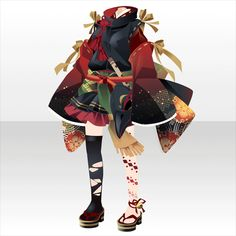 上半身/インナー 介添え侍女の水干ミニ袴A赤