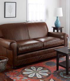 Beanu0027s Leather Lodge Sofa, ...
