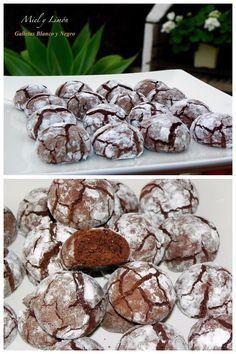 Galletas achocolatadas con corazón de bizcocho / http://mielylimonrecetas.blogspot.com.es