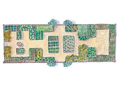 Download this comprehensive kitchen-garden plan to try in your backyard. #landscaping