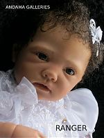 Life size baby mannequin/reborn doll created at Andama Galleries