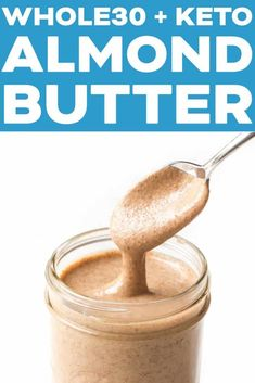 Great for keto, paleo, gluten free, sugar free, and vegan diets! Almond Butter Keto, Homemade Almond Butter, Almond Milk Recipes, Homemade Food, Primal Recipes, Gluten Free Recipes, Vegan Recipes, Vegan Breakfast Recipes, Snack Recipes
