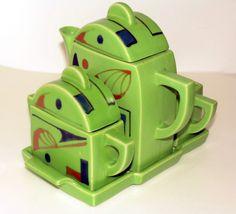 68 Ideas vintage cafe design art deco tea sets for 2019 Vintage Cafe Design, Art Nouveau, Teapots And Cups, Art Deco Period, Tea Service, Art Deco Design, Art Deco Fashion, Ceramic Art, Tea Party