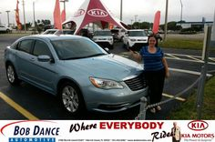 Congratulations to Christine Ford on your #Chrysler #200 purchase from Terry Ingold at Bob Dance KIA! #NewCar