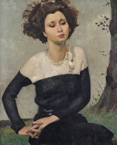 beautiful portrait by   Percy Shakespeare  British painter (1906 - 1943)