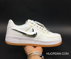 3aada1ee7a26 Travis Scott X Nike Air Force 1 Low Triple White Free Shipping Michael  Jordan Shoes