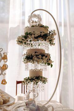 """Hanging chandelier cake from Workshop cakes """"Taste of celebration"""""""