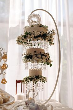"Hanging chandelier cake from Workshop cakes ""Taste of celebration"""