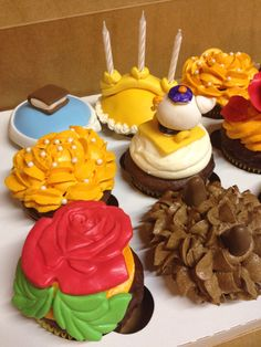 Beauty and the Beast cupcake ideas