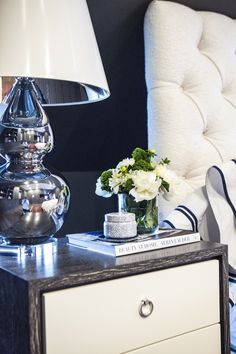 #nightstand  Photography: Heather Talbert  Read More: http://www.stylemepretty.com/living/2014/05/20/bold-family-home/
