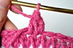 Crochet Stitch Tutorial - Forked Half Double Crochet - Finished!