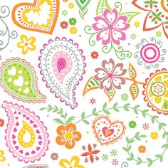Paisley: Lily 1 fabric by amandac on Spoonflower - custom fabric