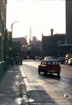 Industrial Photographs, Saint Helens, Family Album, Sidewalk, Street View, Landscape, Places, 1970s, Colour