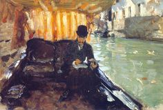 """John Singer Sargent - 1880  """"Ramon Subercaseaux""""  I love how the water looks so real!"""
