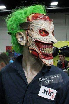 The Joker cosplay by Cinema Makeup School