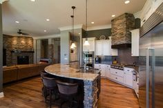 Open Concept Kitchen Living Room Design, Pictures, Remodel, Decor and Ideas