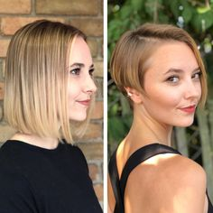 Before After Hair, Before And After Haircut, Long To Short Hair, Short Hair Cuts For Women, Short Blonde Haircuts, Great Haircuts, Extreme Hair, Hair Transformation, Bob Hairstyles