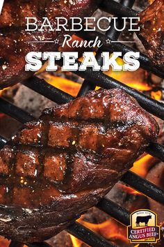 Barbecue Ranch Steaks combine tender, juicy steak with a rich and tangy barbecue marinade.