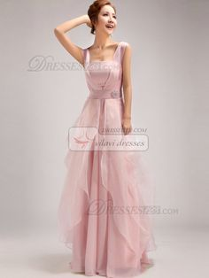 100% Tailor-Made A-Line Straps Tube Top Floor-length Ruffles Pink Bridesmaid Dresses, Free Shipping Price: US $ 147.99 - VILAVI Dresses