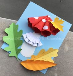 ДЕТСКИЕ ПОДЕЛКИ Fall Arts And Crafts, Autumn Crafts, Fall Crafts For Kids, Autumn Art, Diy For Kids, Kids Crafts, Diy And Crafts, Paper Crafts, Fall Art Projects