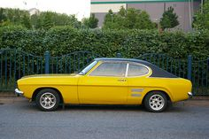 Ford Capri - my dad had this banana yellow delight in the mid 70s. I loved it with a passion.
