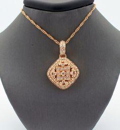 Magnificent Rose Gold & Diamond Pendant by TopWatchesAndDiamond, $2999.95