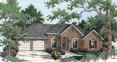 Eplans European House Plan - Brick Beauty - 1926 Square Feet and 4 Bedrooms from Eplans - House Plan Code HWEPL11557