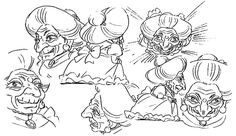 Film: Spirited Away (千と千尋の神隠し) ===== Character Design - Model Sheets: Yubaba ===== Hayao Miyazaki