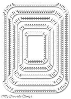 Die-namics Inside & Out Stitched Rounded Rectangle MFT-848