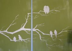 DIY Bird Painting