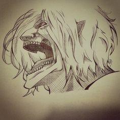 #Eren #Titan #Erentitan #ShinjekiNoKyojin #Snk #die #death  #draw #drawing #attackontitan #chiaroscuri #manga #bored #boring #graphic #pen #sketch