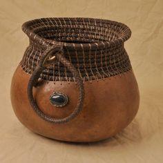 Braided leather Riata - Gourd Art Enthusiasts