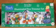Winnie The Pooh & Friends Illuminated Tree Trimmer Set 10 Lights Piglet Tigger