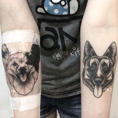 Dog Tattoos by Pink Tattoos