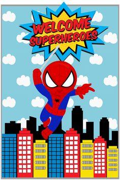 Mil y un papeles Baby Spiderman, Spiderman Theme, Baby Superhero, Superhero Design, Superhero Birthday Party, Fête Spider Man, Festa Angry Birds, Baby Boy 1st Birthday, Blog