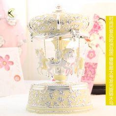 nova 2014 superior- vendendo qualidade lâmpada de luxo prateado caixa de música caixa de música
