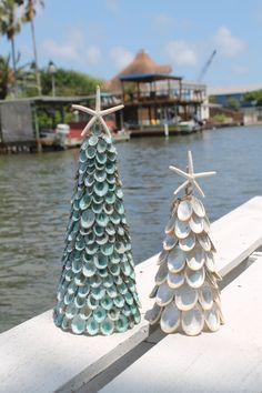 Loving Coastal Living's Blue/Green Limpet Tree & Reversed Abalone Tree Available at www.LovingCoastalLiving.com