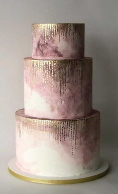 50 Most Beautiful Wedding Cakes – Ombre mauve wedding cake Need some inspiration for your cake design? Which style of cake should you choose? What should it taste like? The wedding cake style will relate.Need some inspiration for your cake design? Luxury Wedding Cake, Wedding Cake Rustic, Elegant Wedding Cakes, Cool Wedding Cakes, Elegant Cakes, Beautiful Wedding Cakes, Wedding Cake Designs, Unique Weddings, Blush Weddings