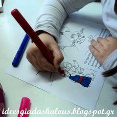 Ιδέες για δασκάλους: Χρωματιζουμε τα Ελληνάκια της Ε.Φακίνου! School Life, Spring Crafts, Education, Kids, High School Life, Young Children, Boys, Children, Kid
