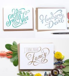 Flattery Will Get You Everywhere Card Set by Wednesday on Scoutmob Shoppe
