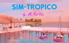 Sims 3 Worlds, Dating Sim, Sports Activities, Lifeguard, Level Up, Cat Life, Surfing, Tropical, Island
