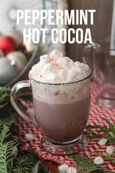 My favorite peppermint hot cocoa plus holiday kitchen decorating!