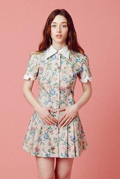 Wallflower Dress - Pink Wallpaper