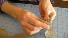 Burlap Flowers : How to Fold a Burlap Rose - YouTube