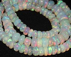 New Arrival Exclusive Opal Beautiful Natural Ethiopian Beaded Necklace, Beaded Bracelets, Opal Gemstone, Handmade Items, Gemstones, Trending Outfits, Unique Jewelry, Natural, Beautiful