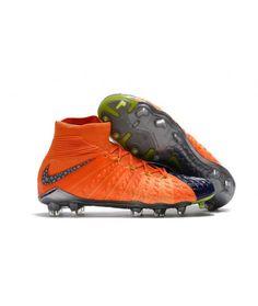 free shipping 76ced 8b8b0 Fußballschuhe Nike Hypervenom Phantom III DF FG Orange blaugrau