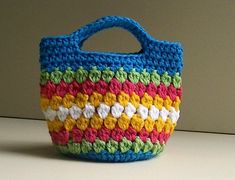 Crochet Bag Awesome Cluster Stitch Bag Crochet Video Tutorial the Of Innovative 49 Models Crochet Bag Crochet Bag ~ Find Out Very solutions About Innovative 49 Models Crochet Bag Pertaining to Distinctive Easy Peasy Little Kidz Bag Crochet Pattern N Crochet Tote, Crochet Handbags, Crochet Purses, Crochet Crafts, Crochet Projects, Knit Crochet, Free Crochet, Crochet Bag Tutorials, Learn Crochet