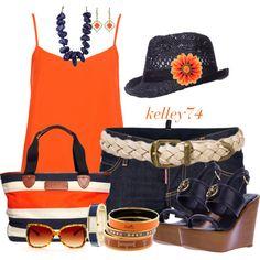 Navy and Orange :)