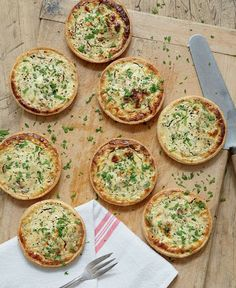 Goat's Cheese and Shallot Tarts ~ in homemade pastry cases   recipe by Mary Berry via The Telegraph