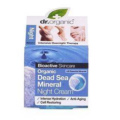 Organic Dead Sea Minerals - Night Cream (50 ml)  Crema notte ai sali del Mar Morto    Crema adatta a tutti i tipi di pelle; apporta nutrimento ed idratazione profonda ed intensiva, rigenerazione cellulare, stimolazione della sintesi del collagene e dell'acido jaluronico e la rigenerazione della pelle, protezione contro i danni dei radicali liberi. Rallenta la comparsa dei segni d'invecchiamento anche con un'azione anti-age. Applicare la crema alla sera dopo la pulizia del viso.